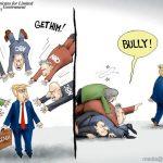 trump-beats-shit-out-of-corrupt-libtard-fake-news-media-at-their-game-called-bully-cartoon