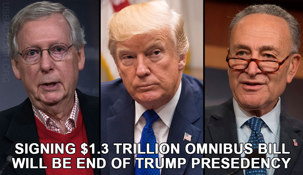 PRESIDENT TRUMP BETTER NOT SIGN $1.3 TRILLION OMNIBUS BILL OR LOSE SUPPORT OF MILLIONS & NEXT ELECTION
