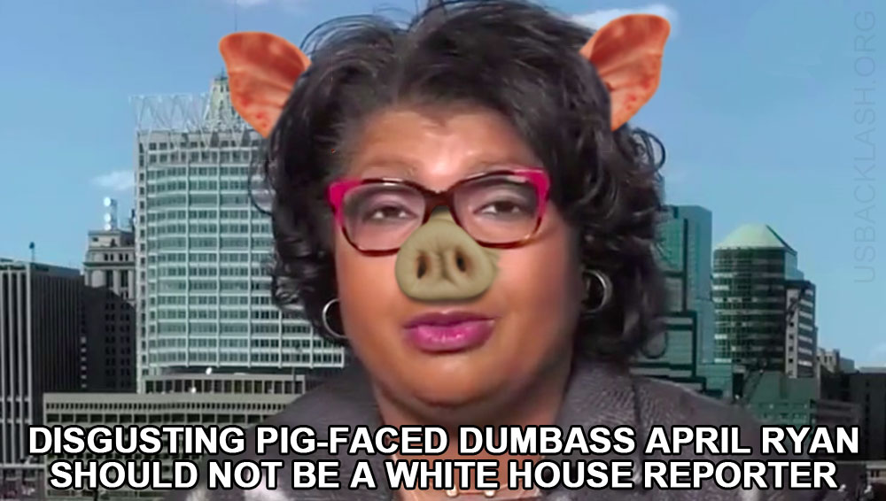 Disgusting Pig-Faced American Urban Radio White House Reporter April Ryan Dumber Than Wet Bag of Hair