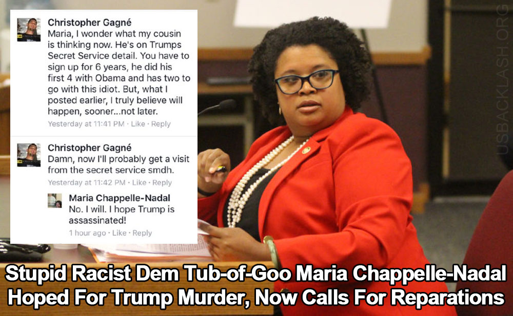 Putrid Racist Tub of Goo MO State Senator Who Hoped for President Trump's Assassination Now Pushing for Reparations
